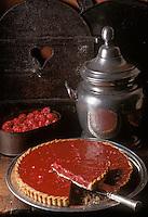 """Europe/France/73/Savoie/Val d'Isère: Tarte rose aux Pralines recette du restaurant """"le Solaise"""""""