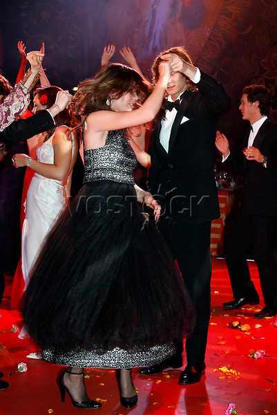 epa00966958 Princess Caroline of Hanover's daughter Charlotte Casiraghi (L) and her brother Pierre (R) dance during  the Bal de la Rose in Monte Carlo, Saturday 24 March 2007. The Bal de la Rose is a traditional annual charity event in Monaco Principality.  EPA/REALIS / POOL