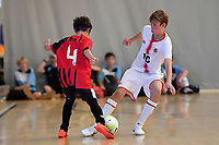 Samuel Fowles of Hamilton Boys' High School during the Futsal NZ Secondary Schools Junior Boys Final between Hamilton Boys High School and Selwyn College at ASB Sports Centre, Wellington on 26 March 2021.<br /> Copyright photo: Masanori Udagawa /  www.photosport.nz