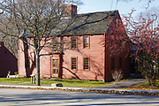 Jefferds Tavern in York, Maine during the autumn months. Built in 1750, this tavern was originally located in Wells, Maine. In 1941 it was moved to York, and restored to a colonial tavern.