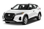 2021 Nissan Kicks - 5 Door SUV Angular Front automotive stock photos of front three quarter view