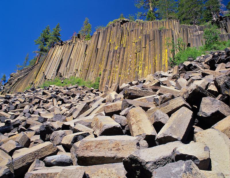 Columnar jointing at Devil's Postpile National Monument. California.