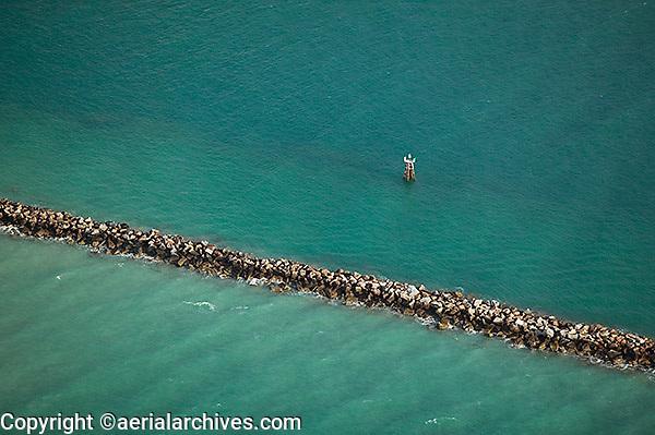 aerial photograph breakwater Miami Beach, Florida