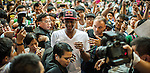 NBA's player and Red Bull athlete Rajon Rondo arrives the Hong Kong's Red Bull King of the Rock at the Southorn Indoor Stadium on September 1, 2012 in Hong Kong. Photo by Victor Fraile / The Power of Sport Images