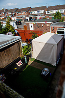 Monday 19 June 2017<br /> Pictured: View of the front garden of the house in Cardiff<br /> Re: Darren Osborne, who drove the vehicle which drove into worshippers near a north London mosque lived at an address in Cardiff, South Wales, UK.