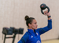 ORLANDO, FL - JANUARY 12: Lynn Williams #6 of the USWNT works out at the team hotel on January 12, 2021 in Orlando, Florida.