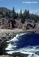 AC24-005z  Acadia National Park, Maine - ocean and rocks