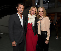 """NEW YORK CITY - OCTOBER 4: Hugh Dancy, Claire Danes, and Karey Burke, President of 20th Television Studio attend the red carpet premiere of Hulu's """"DOPESICK"""" at the Museum of Modern Art on October 4, 2021 in New York City. . (Photo by Frank Micelotta/Hulu/PictureGroup)"""