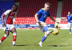 St Johnstone v Fleetwood Town…24.07.21  McDiarmid Park<br />Jordan Northcott<br />Picture by Graeme Hart.<br />Copyright Perthshire Picture Agency<br />Tel: 01738 623350  Mobile: 07990 594431