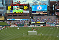 Chelsea F.C training at Busch Stadium, St Louis ahead of the friendly game verus Manchester City.