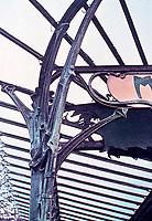 Detail of ironwork design by Hector Guimard at Metropolitan station. Paris, France.