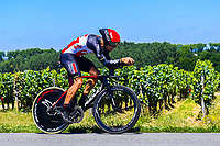 17th July 2021, St Emilian, Bordeaux, France;  GILBERT Philippe (BEL) of LOTTO SOUDAL during stage 20 of the 108th edition of the 2021 Tour de France cycling race, an individual time trial stage of 30,8 kms between Libourne and Saint-Emilion.