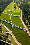 Aerial of Willamette National Cemetery, VA Cemetery, Clackamas, Oregon