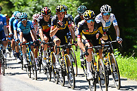 10th July 2021; Carcassonne, France; VAN AERT Wout (BEL) of JUMBO-VISMA, KUSS Sepp (USA) of JUMBO-VISMA, KRUIJSWIJK Steven (NED) of JUMBO-VISMA and VINGEGAARD Jonas (DEN) of JUMBO-VISMA during stage 14 of the 108th edition of the 2021 Tour de France cycling race, a stage of 183,7 kms between Carcassonne and Quillan
