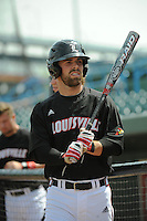 University of Louisville Cardinals outfielder Cole Sturgeon (15) before a game against the Temple University Owls at Campbell's Field on May 10, 2014 in Camden, New Jersey. Temple defeated Louisville 4-2.  (Tomasso DeRosa/ Four Seam Images)