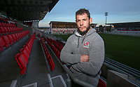 Monday 18th November 2019 | Ulster Rugby Match Briefing<br /> <br /> Ulster number 8 Marcell Coetzee at the Match Briefing held at Kingspan Stadium, Belfast ahead of the Heineken Champions Cup Round 2 clash against ASM Clermont Auvergne at Kingspan Stadium, Belfast,  on Friday evening .  Photo by John Dickson / DICKSONDIGITAL
