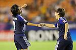 (L to R) Yoko Tanaka (JPN), Kumi Yokoyama (JPN), .AUGUST 26, 2012 - Football / Soccer : .FIFA U-20 Women's World Cup Japan 2012, Group A .match between Japan 4-0 Switzerland .at National Stadium, Tokyo, Japan. .(Photo by Daiju Kitamura/AFLO SPORT)