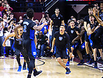 The Duke bench erupts after Duke forward Cam Reddish's game winning shot at the end of an NCAA college basketball game against Florida State in Tallahassee, Fla., Saturday, Jan. 12, 2019. Duke defeated Florida State 80-78. (AP Photo/Mark Wallheiser)