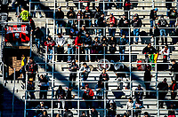 WASHINGTON, DC - MARCH 07: DC United fans in the late afternoon sun during a game between Inter Miami CF and D.C. United at Audi Field on March 07, 2020 in Washington, DC.
