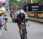 Jens Voigt (GER) Radioshack-Nissan in action during the Prologue of the 99th edition of the Tour de France 2012, a 6.4km individual time trial starting in Parc d'Avroy, Liege, Belgium. 30th June 2012.<br /> (Photo by Eoin Clarke/NEWSFILE)