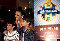 SÃO PAULO,SP,05 DEZEMBRO 2011 -PREMIO CRAQUE BRASILEIRO 2011<br />  A jogadora Marta durante entrega do premio craque do brasileiro 2011 no auditorio do Ibirapuera na zona sul de São Paulo.FOTO ALE VIANNA - NEWS FREE.