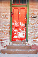 House door in disrepair. Tucson. Arizona