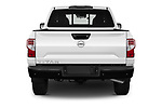 Straight rear view of 2021 Nissan Titan S 4 Door Pick-up Rear View  stock images