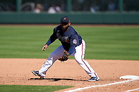 Atlanta Braves first baseman Pablo Sandoval (48) during a Major League Spring Training game against the Boston Red Sox on March 7, 2021 at CoolToday Park in North Port, Florida.  (Mike Janes/Four Seam Images)