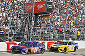 Monster Energy NASCAR Cup Series<br /> AAA 400 Drive for Autism<br /> Dover International Speedway, Dover, DE USA<br /> Sunday 4 June 2017<br /> Denny Hamlin, Joe Gibbs Racing, FedEx Express Toyota Camry, Kyle Busch, Joe Gibbs Racing, Pedigree Petcare Toyota Camry<br /> World Copyright: Logan Whitton<br /> LAT Images<br /> ref: Digital Image 17DOV1LW4006