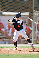 Jack Payton during the WWBA World Championship at the Roger Dean Complex on October 19, 2018 in Jupiter, Florida.  Jack Payton is a catcher from Orland Park, Illinois who attends Brother Rice High School and is committed to Louisville.  (Mike Janes/Four Seam Images)