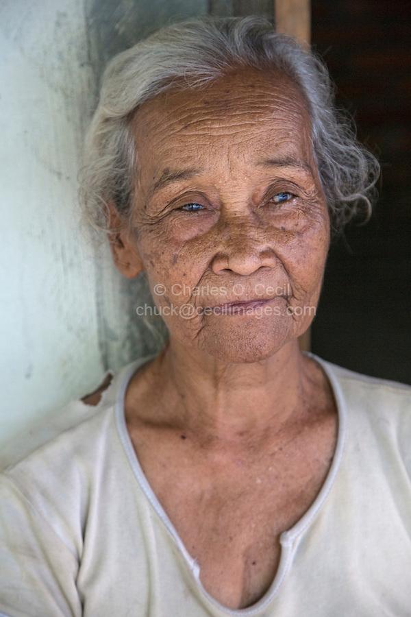 Yogyakarta, Java, Indonesia.  Old Woman in Village near Yogyakarta.