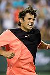March 12, 2018: Taylor Fritz (USA) celebrates after defeating Fernando Verdasco (ESP) 4-6, 6-2, 7-6(1) at the BNP Paribas Open played at the Indian Wells Tennis Garden in Indian Wells, California. ©Mal Taam/TennisClix/CSM
