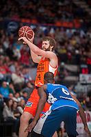 VALENCIA, SPAIN - NOVEMBER 22: John Shurna during Endesa League match between Valencia Basket Club and Retabet.es GBC at Fonteta Stadium on November 22, 2015 in Valencia, Spain