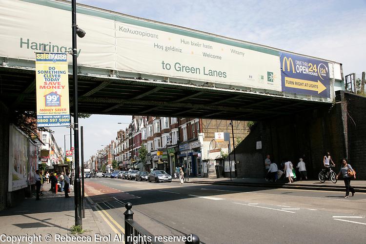 Green Lanes in Haringey, London, UK