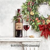 Marcello, CHRISTMAS SYMBOLS, WEIHNACHTEN SYMBOLE, NAVIDAD SÍMBOLOS, paintings+++++,ITMCXM1502,#XX# ,Christmas wreath