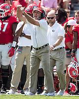 Athens, GA - September 10, 2016: The ninth ranked Georgia Bulldogs vs the Nicholls Colonels at Sanford Stadium.  Final score University of Georgia 26, Nicholls State 24.