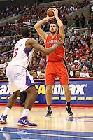 12/09/12 Los Angeles, CA: Toronto Raptors center Jonas Valanciunas #17 during an NBA game between the Los Angeles Clippers and the Toronto Raptors played at Staples Center. The Clippers defeated the Raptors 102-83.