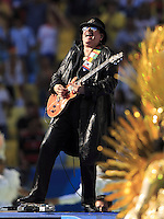 Carlos Santana performs during the closing ceremony