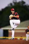 Batavia Muckdogs relief pitcher Michael Mertz (26) during a game against the Williamsport Crosscutters on September 2, 2016 at Dwyer Stadium in Batavia, New York.  Williamsport defeated Batavia 9-1. (Mike Janes/Four Seam Images)