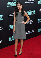 HOLLYWOOD, LOS ANGELES, CA, USA - OCTOBER 06: Tiffany Espensen arrives at the World Premiere Of Disney's 'Alexander And The Terrible, Horrible, No Good, Very Bad Day' held at the El Capitan Theatre on October 6, 2014 in Hollywood, Los Angeles, California, United States. (Photo by Xavier Collin/Celebrity Monitor)