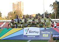 RIONEGRO - COLOMBIA, 3-02-2020:Jugadores del Rionegro posan para una foto previo al partido entre Rionegro  e Independiente Santa Fe por la fecha 3 de la Liga BetPlay I 2020 jugado en el estadio Alberto Grisales de la ciudad de Rionegro. / Players of Rionegro pose to a photo prior match between Rionegro and Independiente Santa Fe for the date 3 as part of BetPlay League I 2020 played at Alberto Grisales stadium in Rionegro. Photo: VizzorImage / Juan Augusto Cardona / Cont /