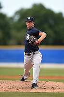 New York Yankees pitcher Kyle Haynes (17) during a minor league spring training game against the Toronto Blue Jays on March 24, 2015 at the Englebert Complex in Dunedin, Florida.  (Mike Janes/Four Seam Images)