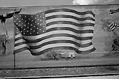Saint Bernards Parish, Louisiana.May 26, 2006..Patriotic painting behind the civic center building.