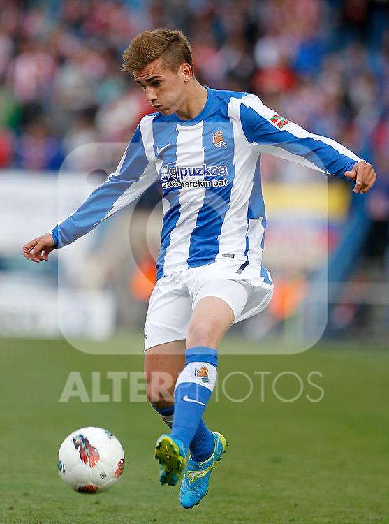 Real Sociedad's Antoine Griezman during La Liga match.Mayo 2,2012. (ALTERPHOTOS/Acero)