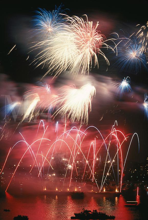 Fireworks, July 4th, Charles River, Boston, MA