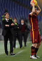 Calcio, Serie A: Roma vs Milan. Roma, stadio Olimpico, 9 gennaio 2016.<br /> Roma's coach Rudi Garcia, left, gives indications to his players during the Italian Serie A football match between Roma and Milan at Rome's Olympic stadium, 9 January 2016.<br /> UPDATE IMAGES PRESS/Isabella Bonotto
