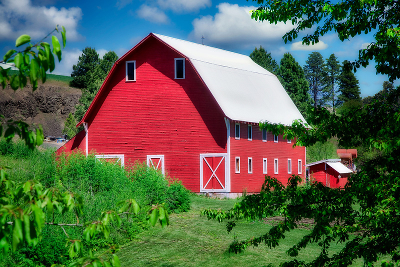 Red barn. The Palouse, near Colfax, Washington.