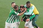 Real Betis Balompie's Joaquin Sanchez, Sergio Canales, Borja Iglesias and Emerson Royal celebrate goal during La Copa match. January 26, 2021. (ALTERPHOTOS/Acero)