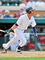 9 March 2012: Detroit Tigers outfielder Quintin Berry smacks a double to lead off the bottom of the 9th inning during a Spring Training game against the Philadelphia Phillies at Joker Marchant Stadium in Lakeland, Florida. The Phillies defeated the Tigers 7-5 in Grapefruit League action. Mandatory Credit: Ed Wolfstein Photo
