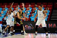 24-03-2021: Basketbal: Donar Groningen v Landstede Hammers: Groningen, Landstede speler Jozo Rados met Donar speler Juwann James